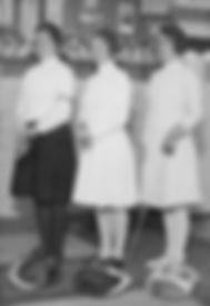 Zu Gast beim DFCD die starken Holländerinnen Jo de Boer, A. Admiraal-Meyerink und E. van Geuns-Brooks. (Foto 1931)