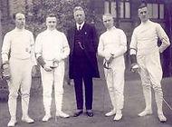 Aus den Gründungsjahren des DFCD Graichen, Paul Schulze, Prof. Frommelt, Finke und Schröder. (Foto 1928)