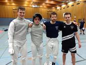 Was für ein starkes Wochenende vom DFCD: mit der Herrenflorettmannschaft in die 2.Runde des Deutschl