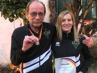 Zweimal Bronze bei den Deutschen Seniorenmeisterschaften in Bad Dürkheim für den DFCD