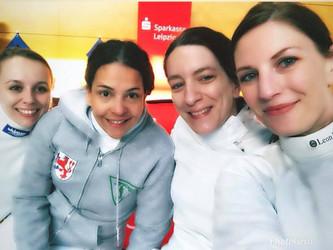 Unsere Damendegenmannschaft bei der Deutschen Meisterschaft in Heidenheim.