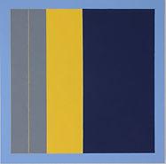 blue - yellow, oil on linen, 80cmx80cm,