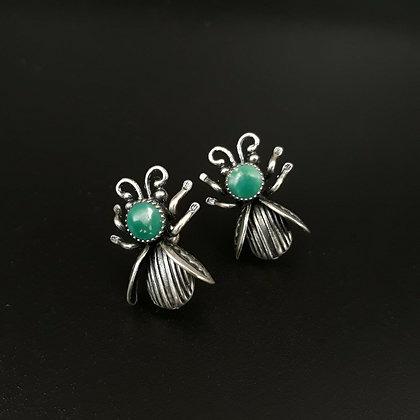 Sterling Silver Queen Bee Earrings