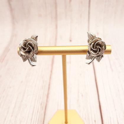 Vintage Rose Earring in Sterling Silver