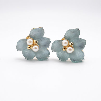 Replica Blue Leaf Earrings