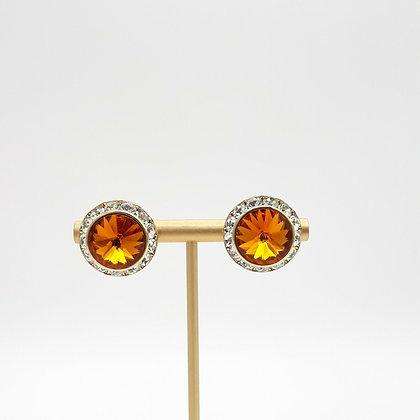 Amber Rhinestone Earrings