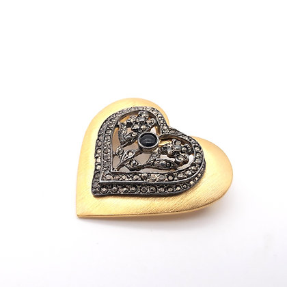 Marcasite Heart Brooch