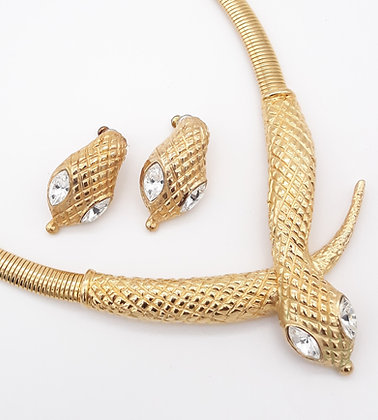 Serpent Necklace and Earrings