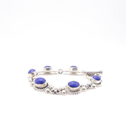 Sterling Silver Blue Enamel Bracelet