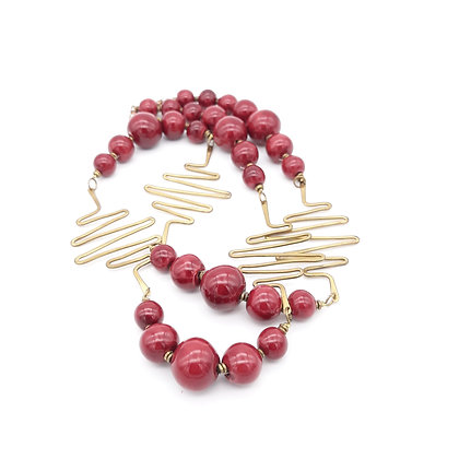 Electrified Beaded Necklace