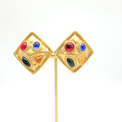 Runway Gilded Gold with Multi Color Stones