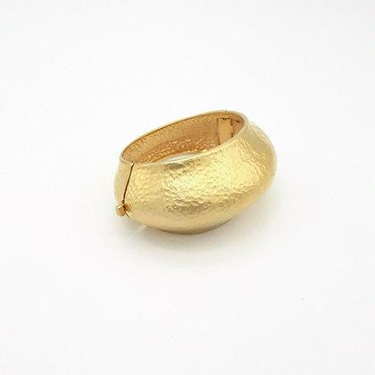 Asymmetric Textured Cuff Bracelet