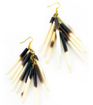 Kenyan Porcupine Quill Earrings