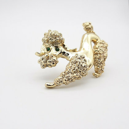 Poodle Brooch Signed Gerry's