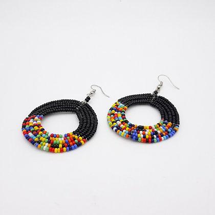 Handmade Masai Beaded Earrings