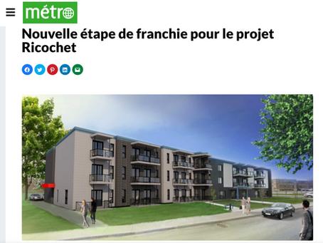 Nouvelle étape de franchie pour le projet Ricochet