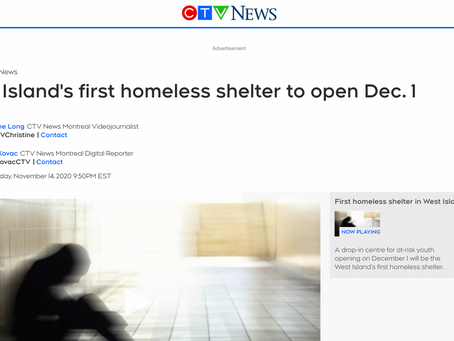 West Island's first homeless shelter to open Dec. 1