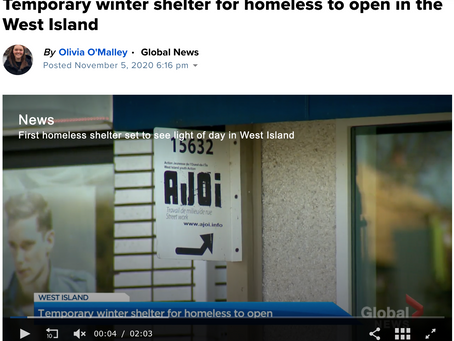 Temporary winter shelter for homeless to open in the West Island