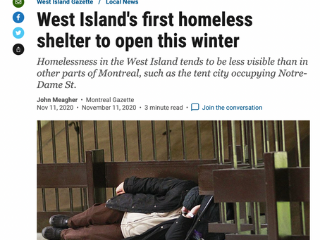 West Island's first homeless shelter to open this winter
