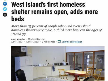 West Island's first homeless shelter remains open, adds more beds