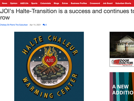 AJOI's Halte-Transition is a success and continues to grow