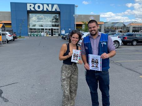 Rona Pierrefond raises funds for Ricochet