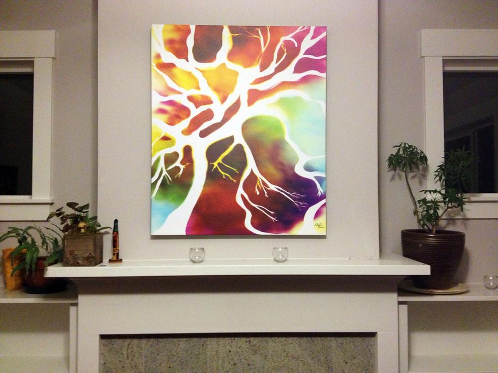 "Tree of Life, 36"" x 30"" - Living Room, Portland, OR"