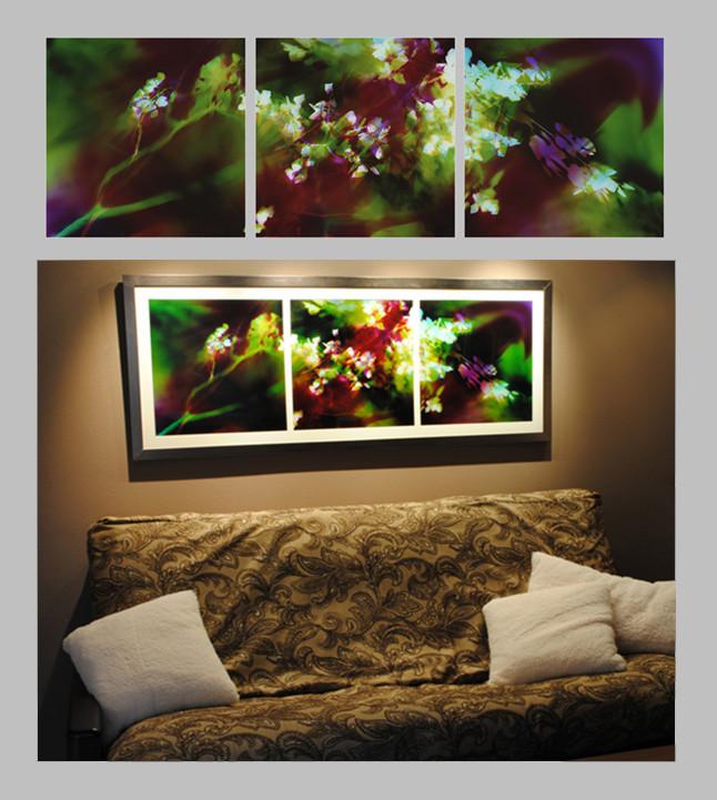 "Aspen Breeze, 20"" x 60"" (3 20"" x 20"" panels), Home Office, Portland, OR"