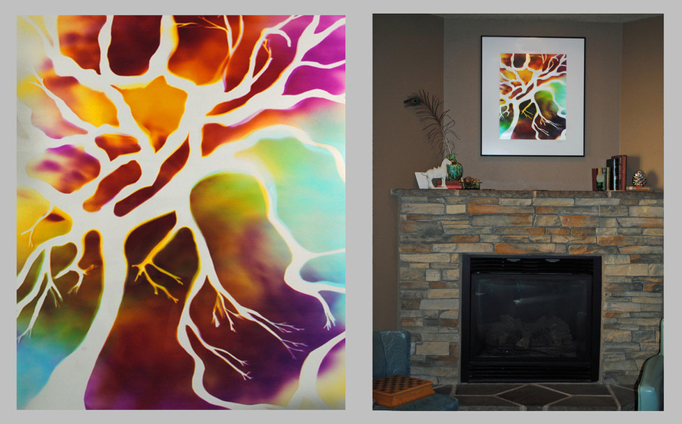 """Tree of Life, 24"""" x 20"""" - Living Room, Bend, OR"""