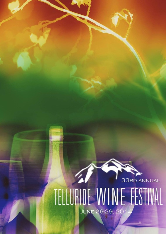 """Telluride Wine Festival 2014, 24"""" x 20"""" - Commissioned by Telluride Wine Festival for use on posters and promotional materials."""