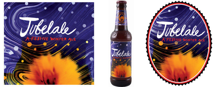 """Jubelale 2010,  20"""" x 24"""" - Commissioned by Deschutes Brewery for use on Jubelale labels and packaging."""