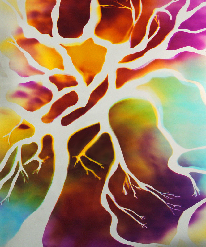 """Tree of Life, 20"""" x 16"""" - Installed at Boise Hillside Suites, Boise, ID"""