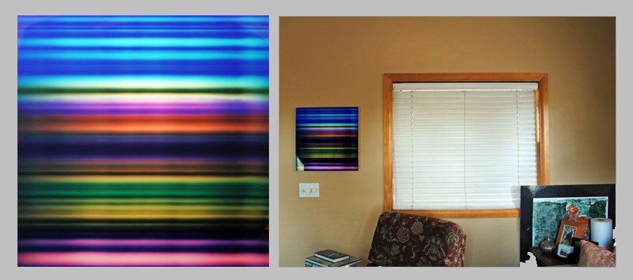 "Passing Landscape 4, 20"" x 20"" - Living Room, Bend, OR"