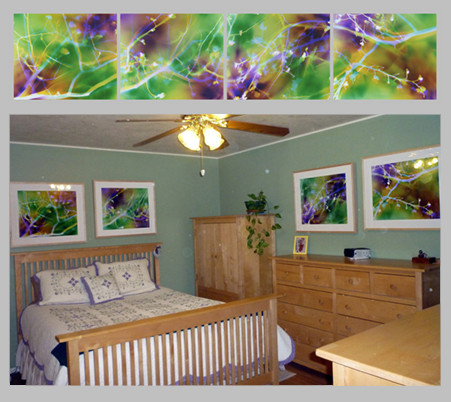 "Growing Together, 20"" x 96"" (4 20"" x 24"" panels), Bathroom, Turlock, CA"