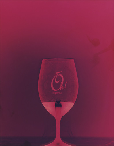 """Cheers, 14"""" x 11"""" - Collection of Naked Winery, Hood River, OR."""