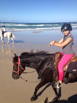 Mirra and Jeli at the beach