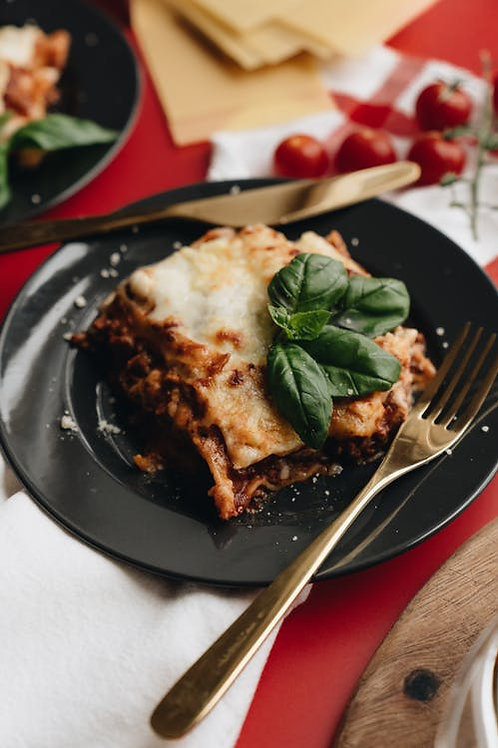 3 Layer White Lasagna w/ Ground Turkey, Assorted Cheeses, Spinach, & Alfredo