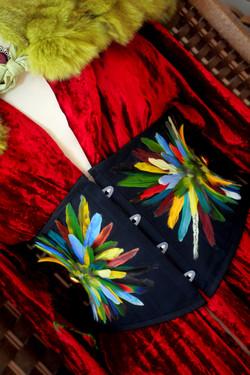 Serre-Taille en plumes de perruches