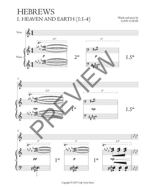 Heaven and Earth (1:1-4) [Vox+Pn Sheet Music]