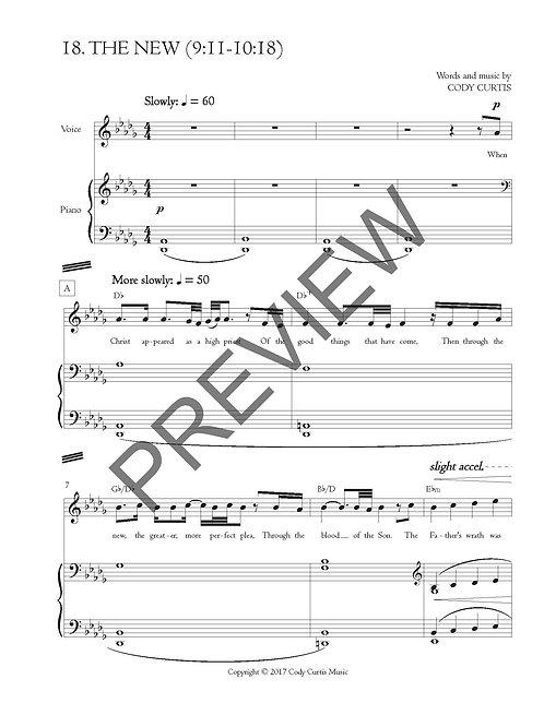 The New (9:11-10:18) [Pn+Vox Sheet Music]