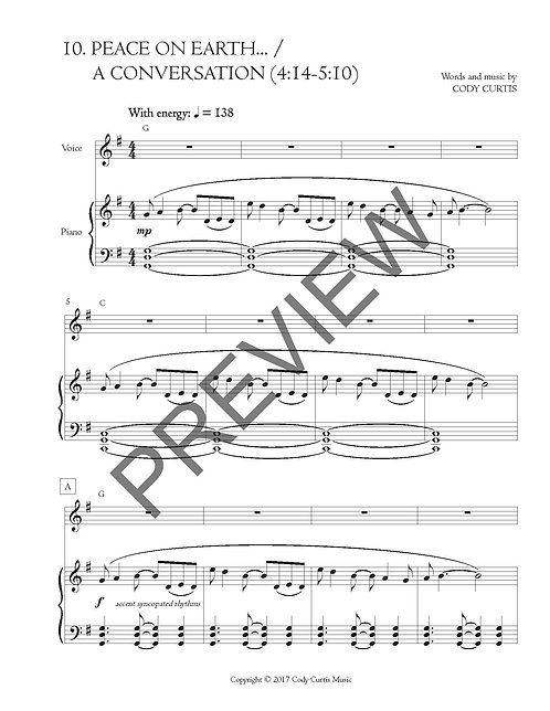 Peace on Earth... / A Conversation (4:14-5:10) [Pn+Vox Sheet Music]
