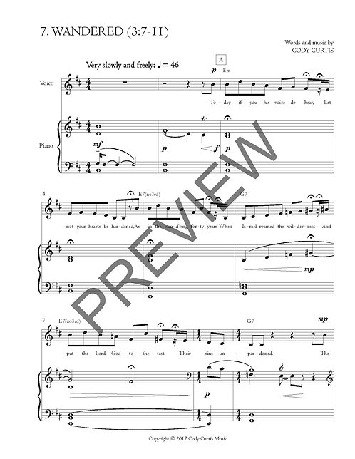 Wandered (3:7-11) [Pn+Vox Sheet Music]