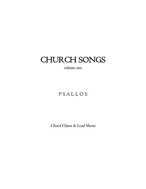 Church Songs, Vol. 1 Chord Charts
