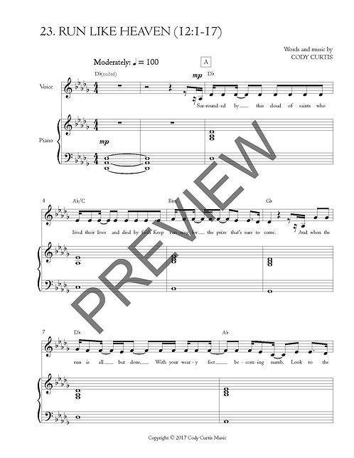 Run Like Heaven (12:1-17) [Pn+Vox Sheet Music]