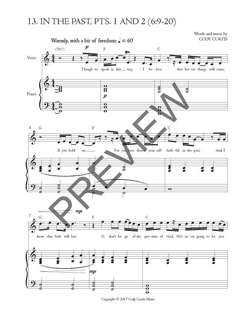 In the Past, Pts. 1 and 2 (6:9-20) [Pn+Vox Sheet Music]