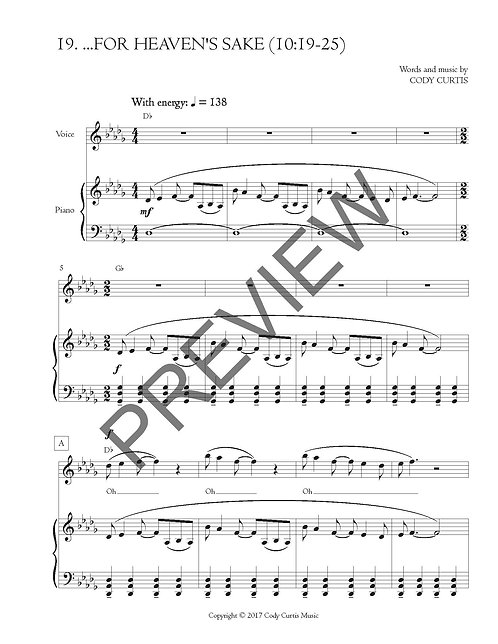...For Heaven's Sake (10:19-25) [Pn+Vox Sheet Music]