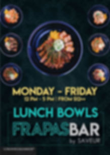 FrapasBar Lunch Poster_Flights experienc