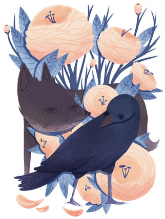wolf and blackbird.jpeg