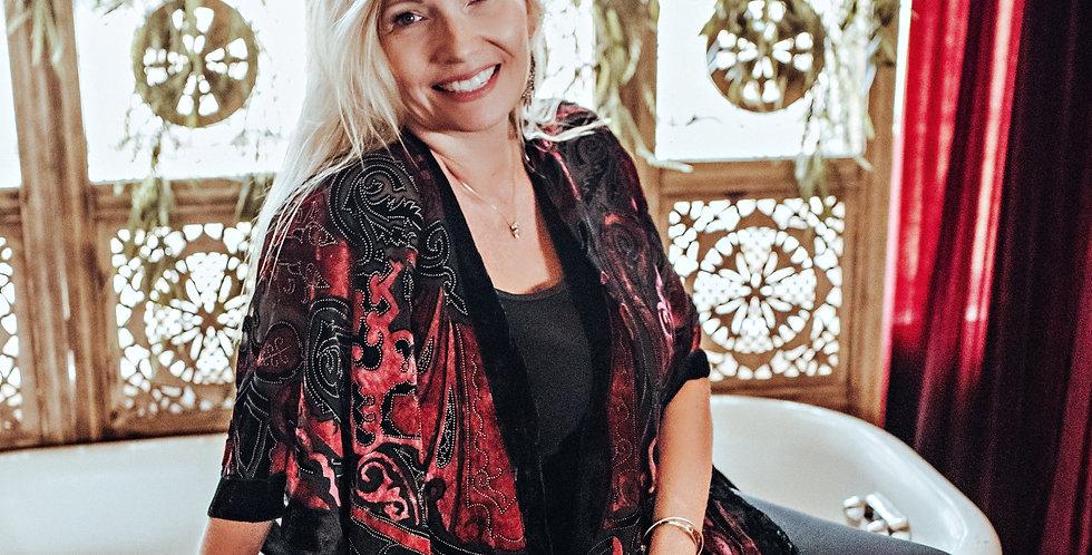 Velvet Burnout Kimono - Gypsy
