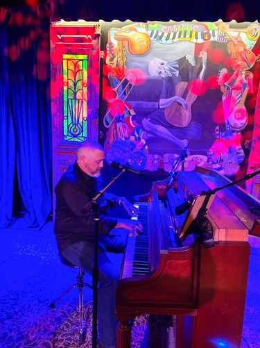 playing my upright Steinway at Muse